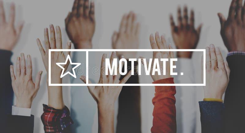 Motivate Aspiration Goal Encourage Inspiration Expectations Concept.  royalty free stock photos