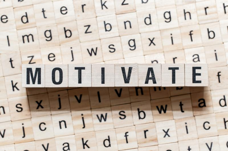 Motivate word concept on cubes.  royalty free stock photography