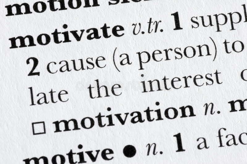 Motivate word dictionary defin royalty free stock photos
