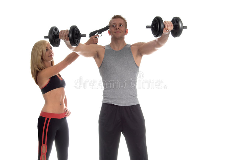 Motivated Workout stock photos