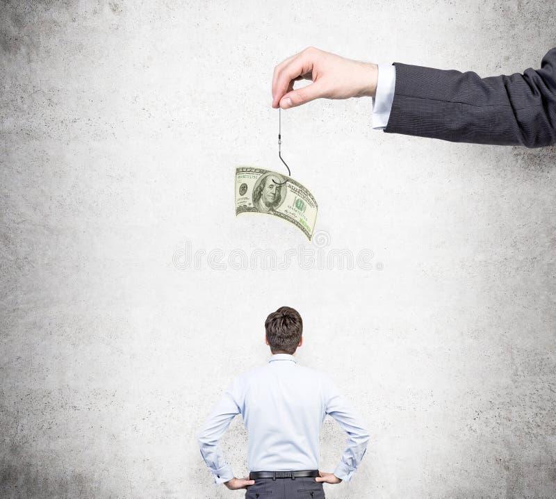 Motivatie door geld stock foto