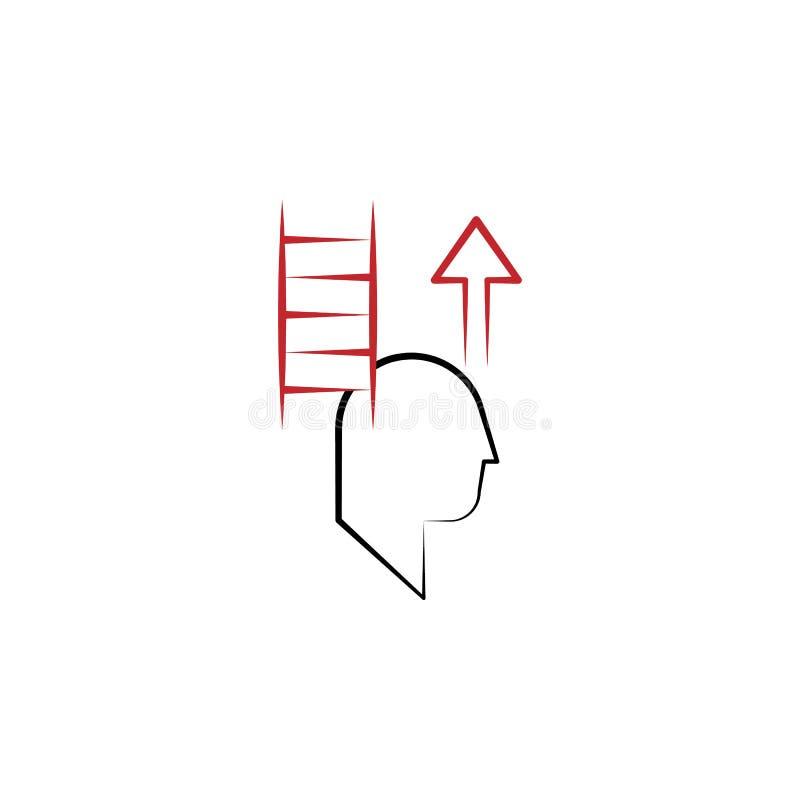 Motivatie, motivatie, mens, ladder 2 rassenbarrièrepictogram Eenvoudig gekleurd hand getrokken element van illustratie mens, ladd vector illustratie