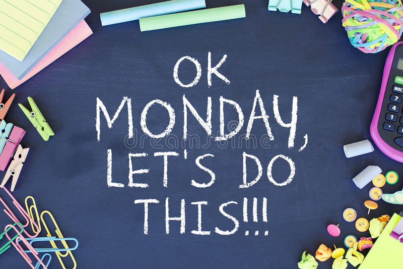 Motivation de lundi photos stock