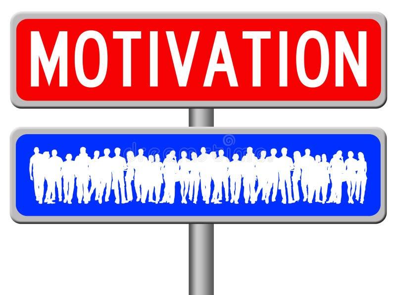 Motivation de personnes illustration stock