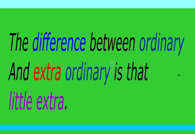 Motivation et citation colorée de conception pour le fond vivant et vert illustration stock