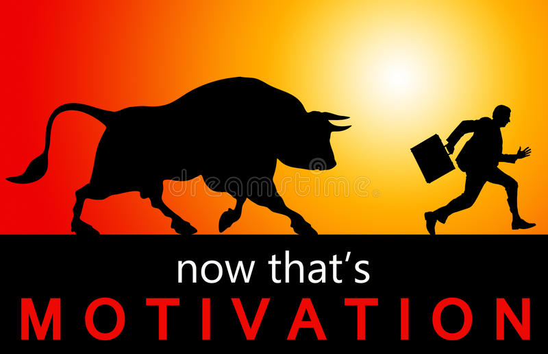 Motivation externe illustration stock