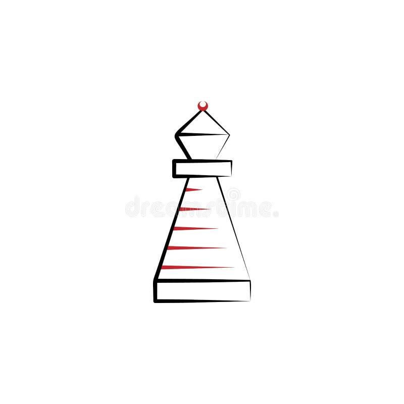 Motivation kulör linje symbol för biskop 2 Utdragen beståndsdel för enkel kulör hand av illustrationen design för biskopöversikts royaltyfri illustrationer