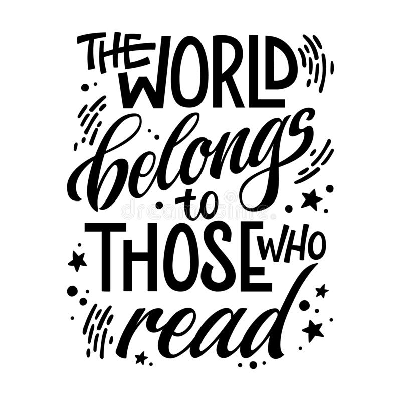 Motivation Lettering Quote About Books And Reading - The World ...