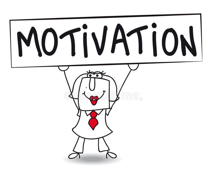 Motivation med Karen stock illustrationer