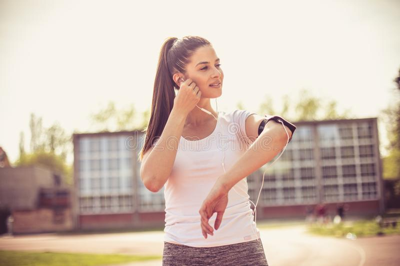 Motivation music need you for good exercise. royalty free stock photography
