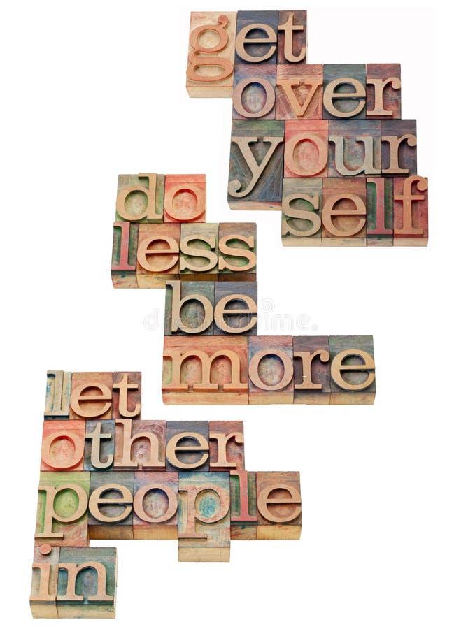 Motivation personnelle et sociale photo libre de droits