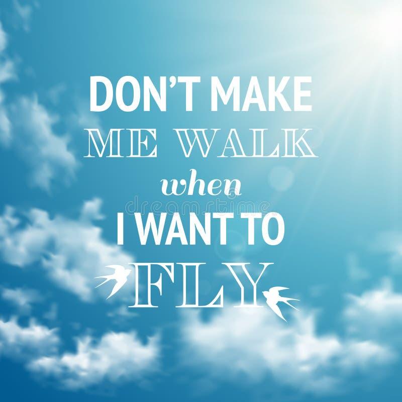 Free Motivation Phrase On Sky Background Stock Image - 48202321