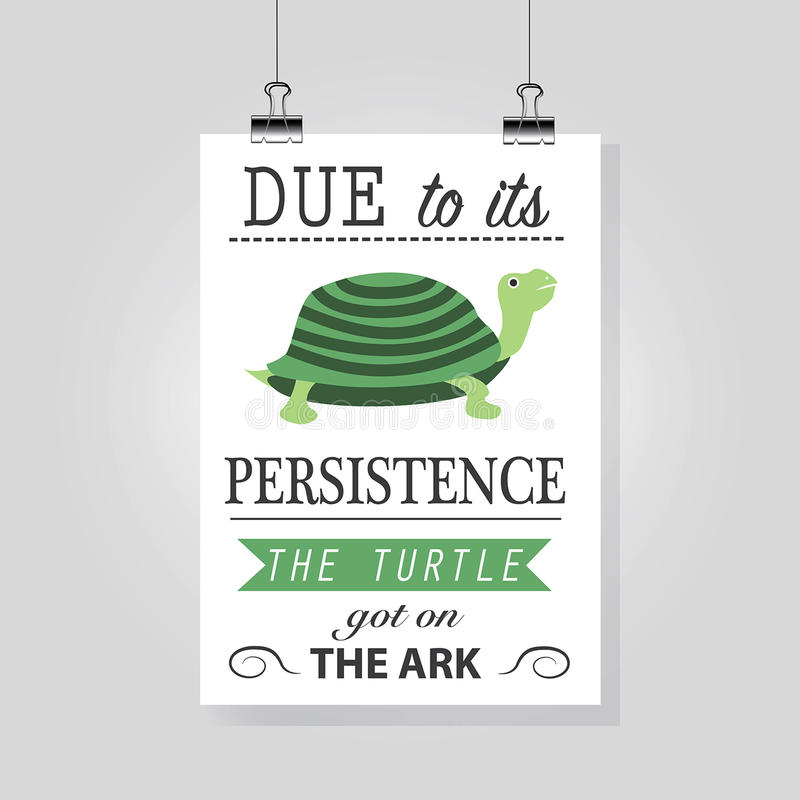 Motivation picture for persistence stock illustration