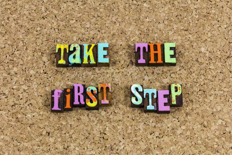 Take first step begin journey royalty free stock photos