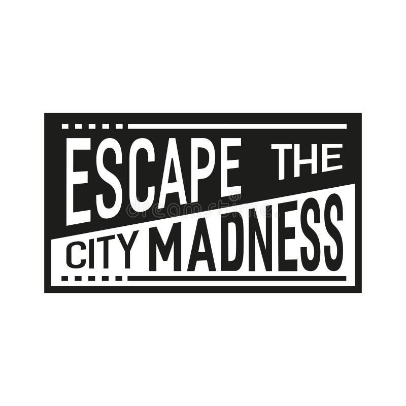 Escape the city madness stock illustration