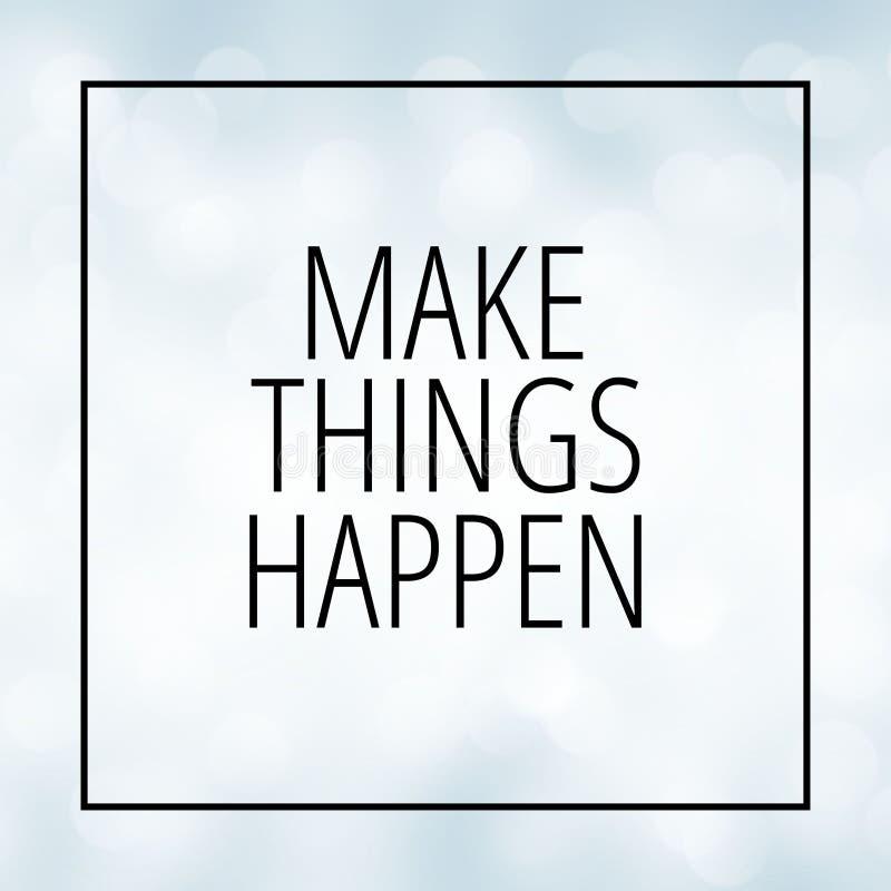 Motivation quote on white bokeh background stock photos