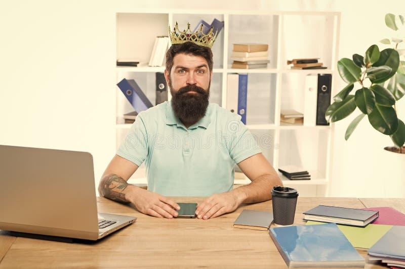 Motivation and reward. Business success. Boss office. Big boss in crown. Success. Leadership. Boss office - biggest. Motiovation. Leadership training royalty free stock photo