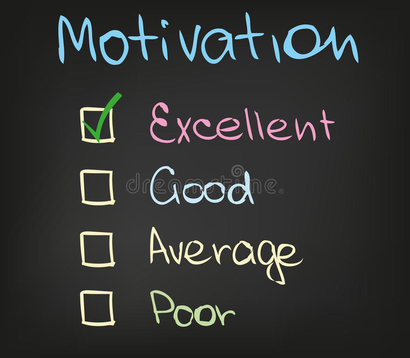 Motivation scale. The way how success can be achieved royalty free illustration