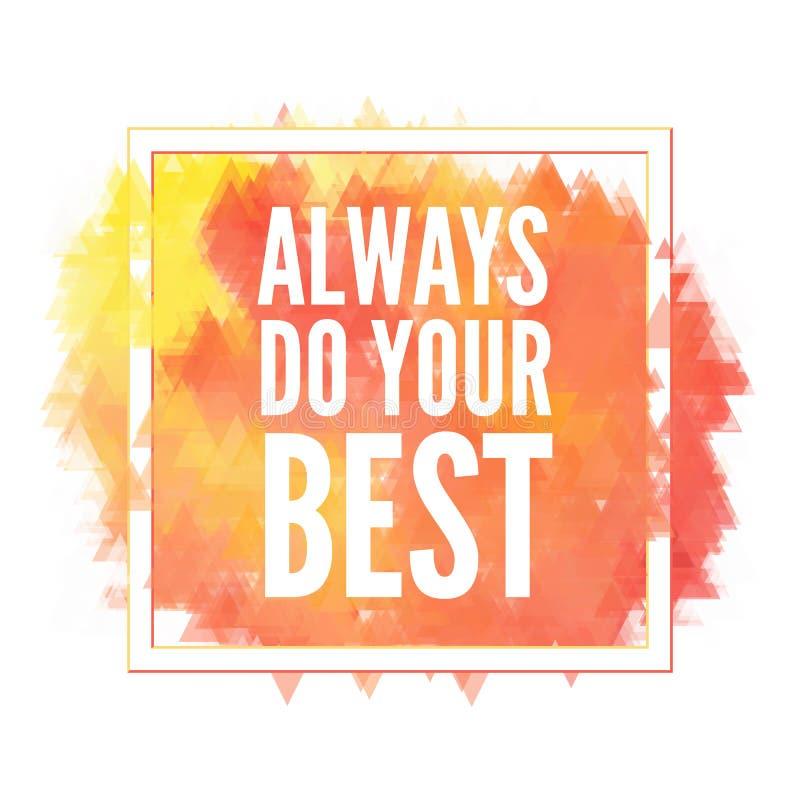 Motivation schwärzt Plakat mit Tinte Textbeschriftung eines inspirierend Sprechens Schmutzfarbenvektor-Elementsatz Bürstenfleck vektor abbildung