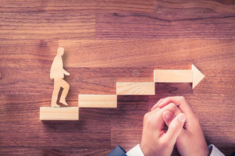 Motivation und persönliche Entwicklungskarriere stockfoto