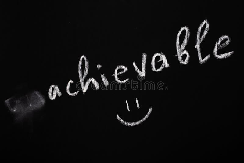 Motivational begrepp Ta bort negativ betydelse från uttrycket Begrepp för kritateckning fotografering för bildbyråer