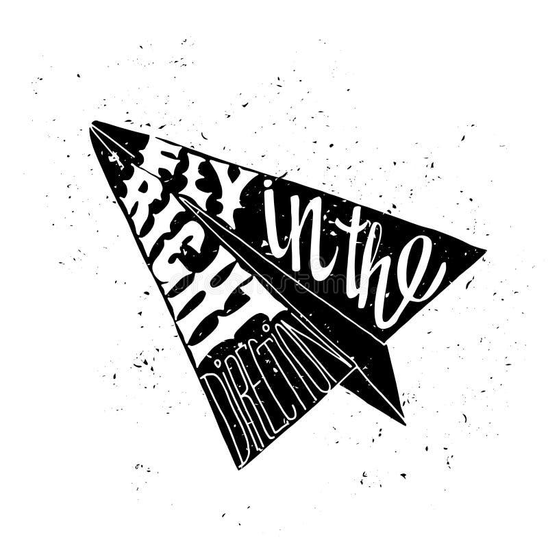 Motivational loppaffisch stock illustrationer