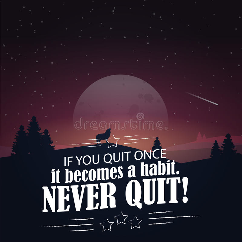 Motivational poster with nature background stock illustration