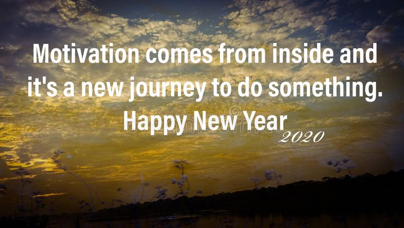 inspirational quotes about happy new year stock photo image