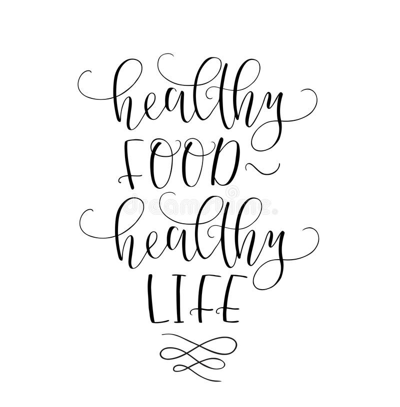 Motivational Quote Healthy Eating Healthy Life. Vector ...