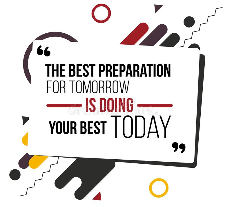 Motivational quotes vector design poster stock illustration