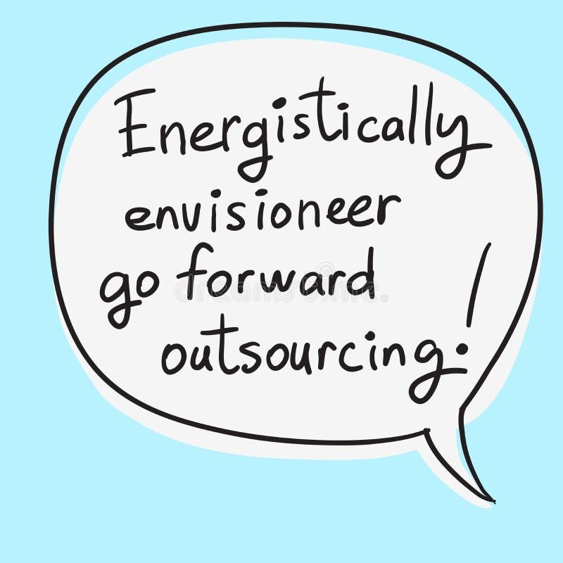 Motivational Speech Bubble Business Buzzwords. Vector handwritten phrase royalty free illustration