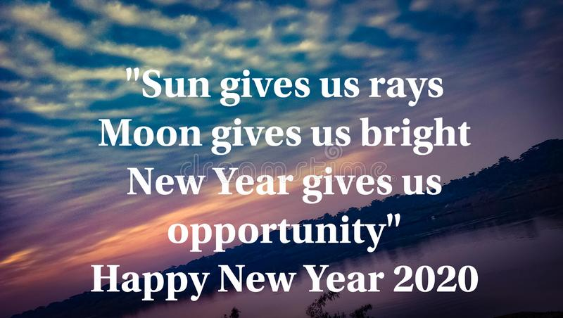 motivational written about happy new year stock image image of