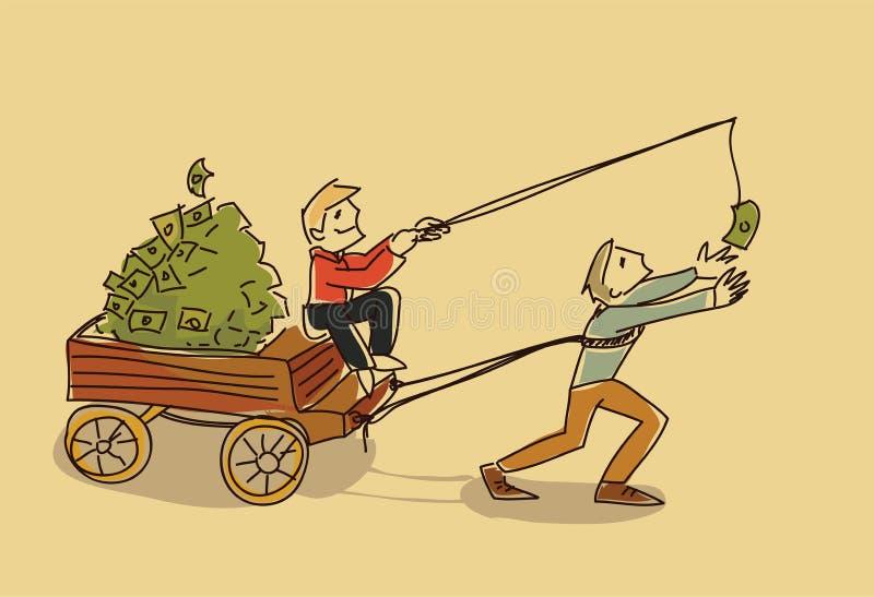 Motivationen för illustrationen för bedrägeripengarvektorn skissar klotter stock illustrationer