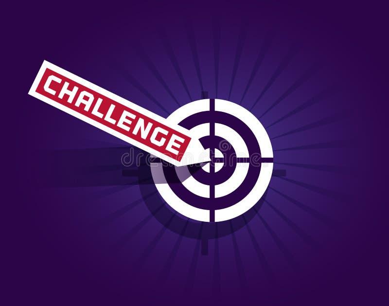 Motivations-Zitat-Herausforderung lizenzfreie abbildung
