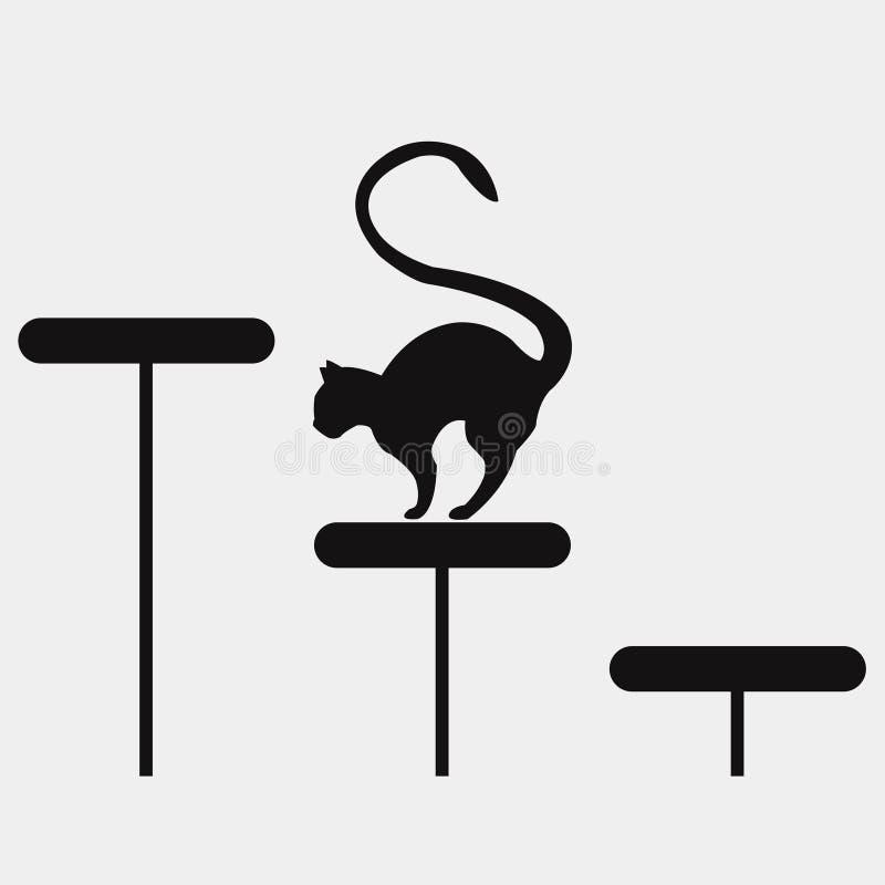 Motivator wspina się up kota ilustracji