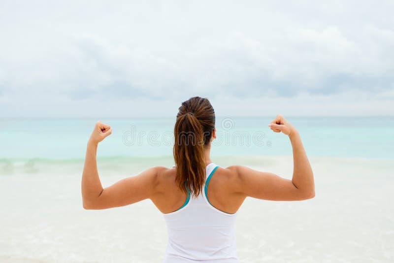 Motivazione e successo di forma fisica fotografia stock