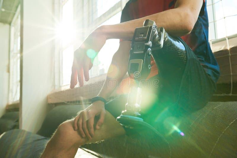 Motivbild des behinderten Sportlers lizenzfreie stockbilder