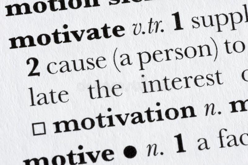 Motivez le defin de dictionnaire de mot photos libres de droits
