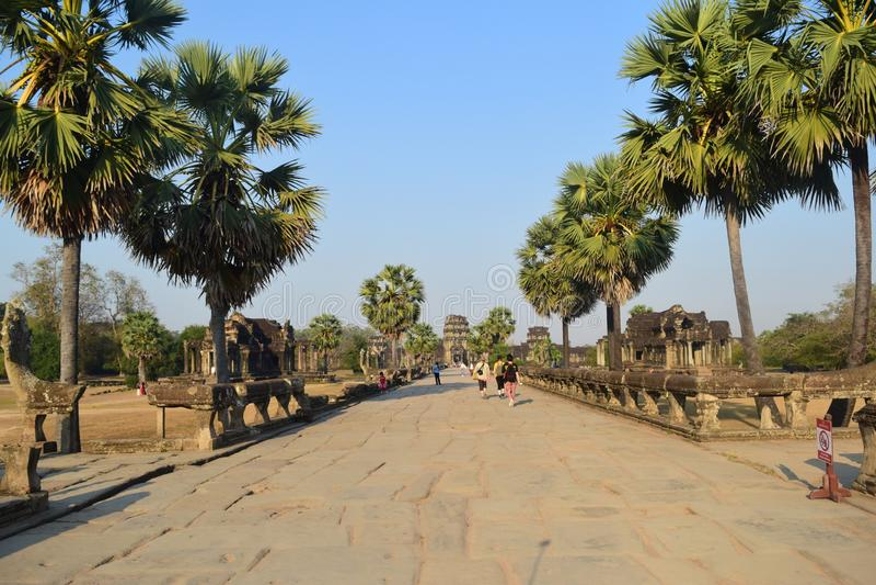 Motivi interni di Angkor Wat immagini stock