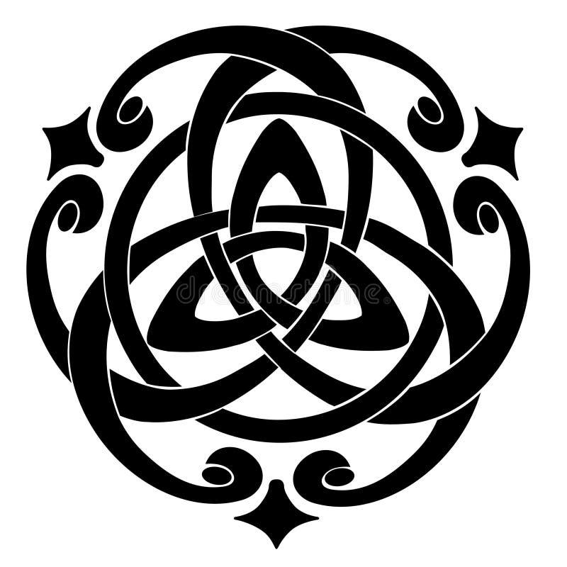 Motivo celtico del nodo illustrazione di stock