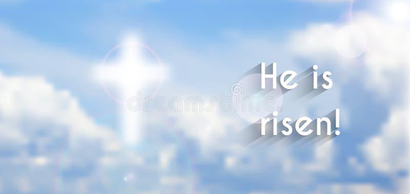Motivo cristiano de Pascua, resurrección ilustración del vector