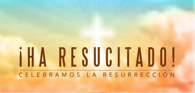Motivo cristiano di Pasqua, resurrezione illustrazione vettoriale