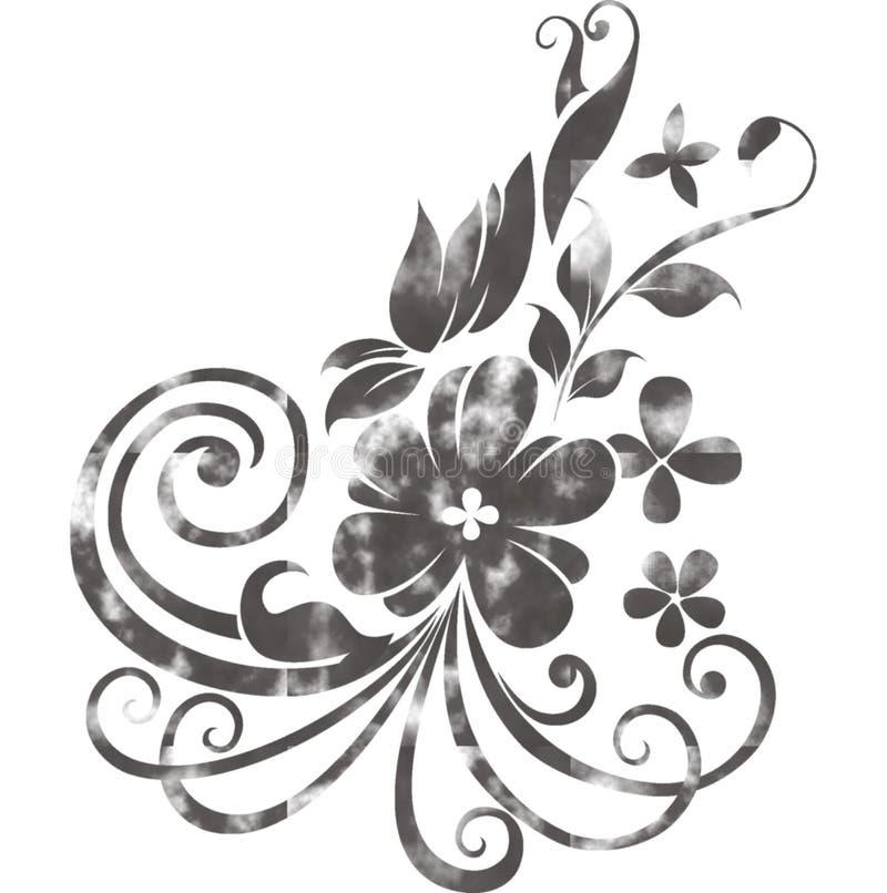 Motivo da flor da aquarela ilustração do vetor