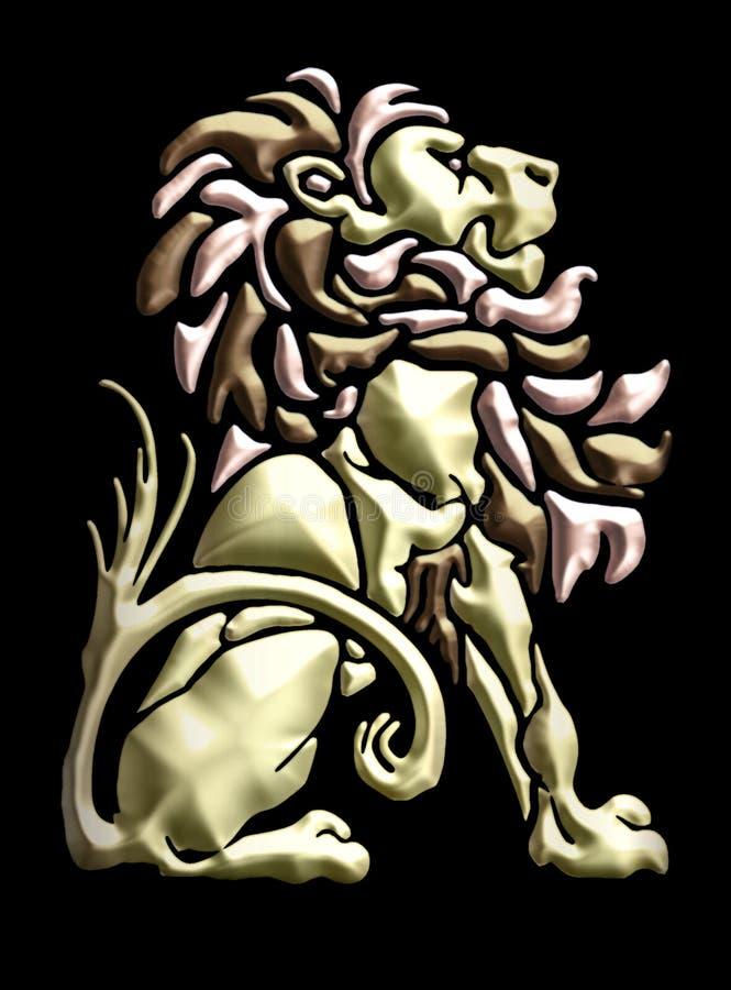 motivo del leone messo annata illustrazione di stock