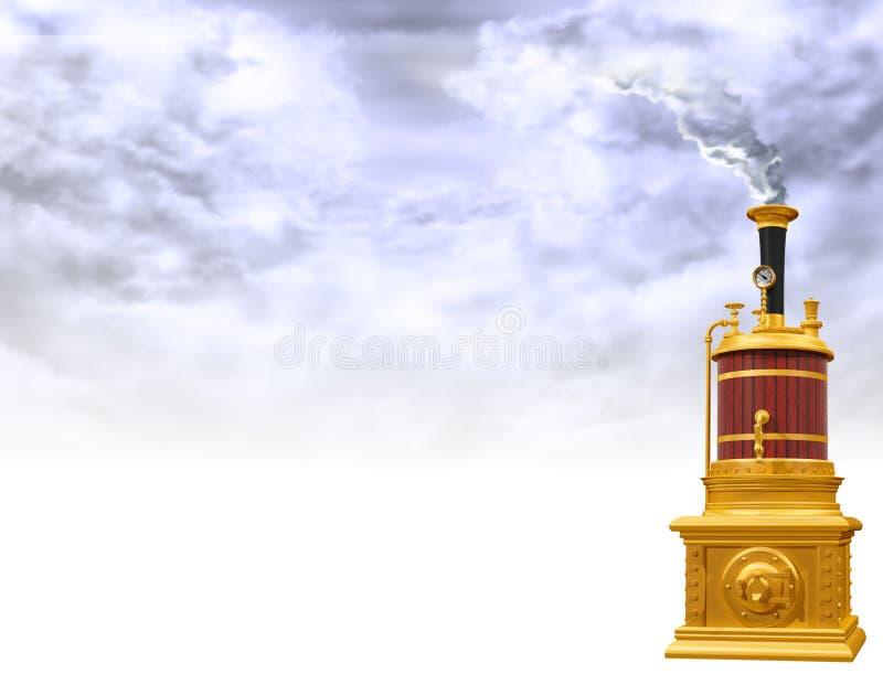 Motivo della caldaia a vapore illustrazione vettoriale