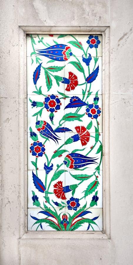 Motivo di Iznik dell'ottomano fotografia stock