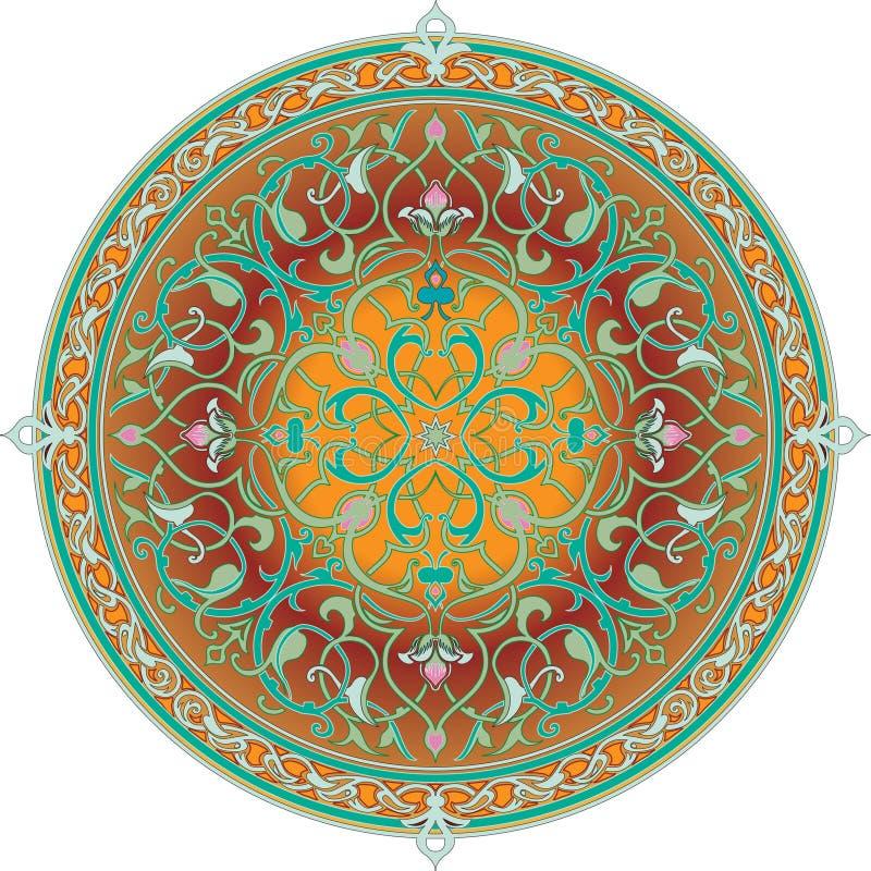 Motivo floral árabe do teste padrão ilustração royalty free