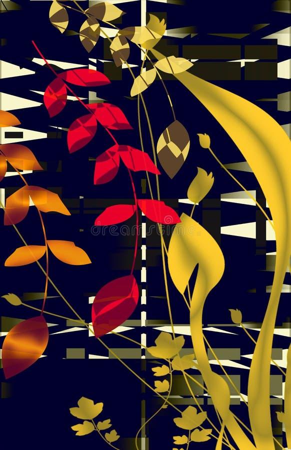 Motivo floral da pérola preta ilustração stock