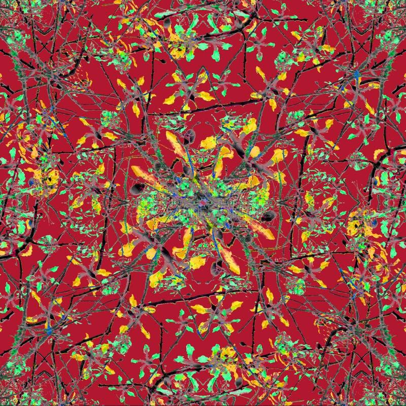 Motivo floral oriental colorido ilustração stock