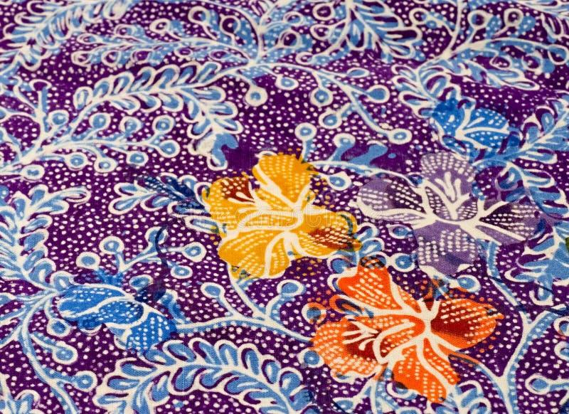 Motivo floreale del batik   immagini stock libere da diritti